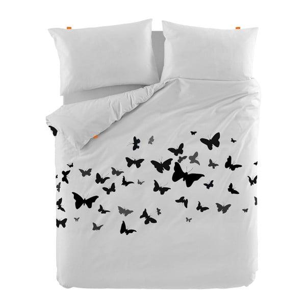 Bawełniana poszwa na kołdrę Blanc Butterflies, 200x200cm