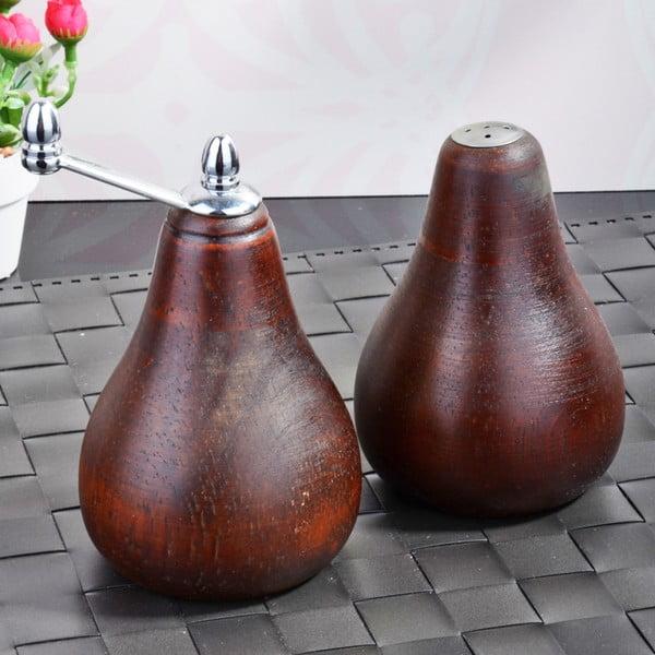 Zestaw bambusowych młynków na sól i pieprz Pear