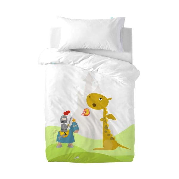 Bawełniana pościel dziecięca z poszewką na poduszkę Mr. Fox Knight, 100x120 cm