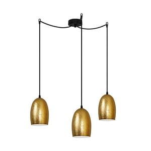 Lampa potrójna UME Elementary, złota/czarna/czarna