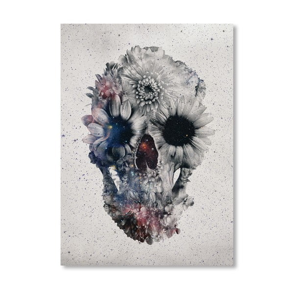 """Plakat autorski """"Floral Skull"""""""