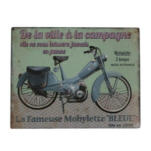 Tablica dekoracyjna Antic Line Blue Motorcycle
