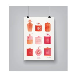 Plakat Americanflat Flask Collection, 30x42 cm