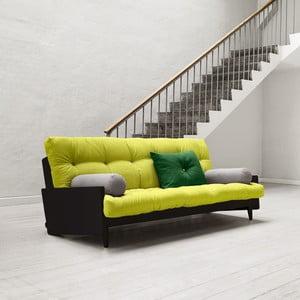 Sofa rozkładana Karup Indie Black/Pistacio/Gris