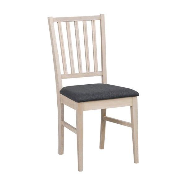 Zestaw 2 białych krzeseł z drewna dębowego z szarym obiciem  Folke Filippa