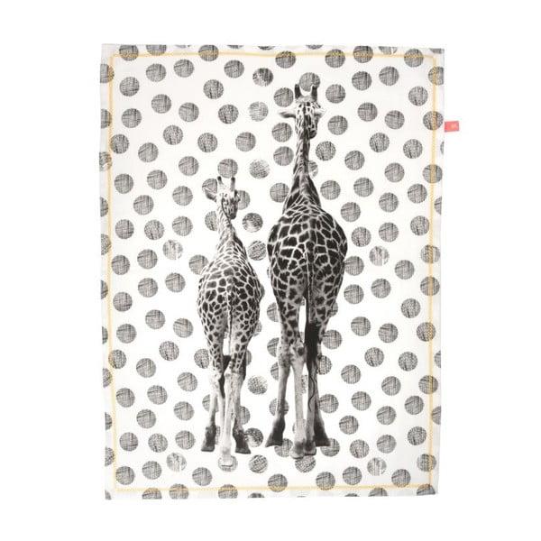 Ścierka kuchenna Giraffes Dots, 50x70 cm
