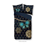 Pościel jednoosobowa z mikroperkalu Muller Textiels Pure Lavanya, 140x200 cm
