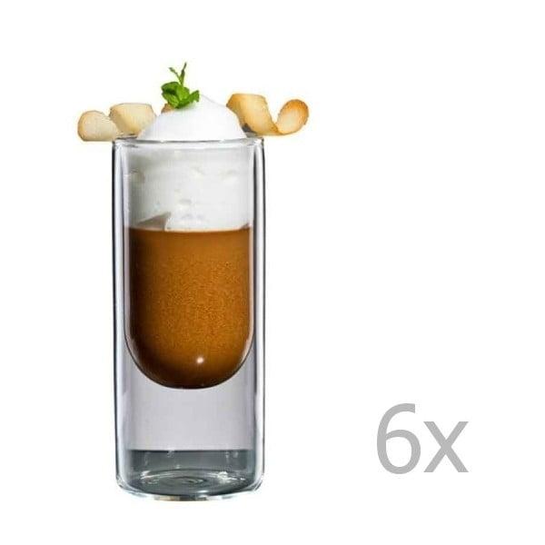 Zestaw 6   wąskich szklanek bloomix Half Moon