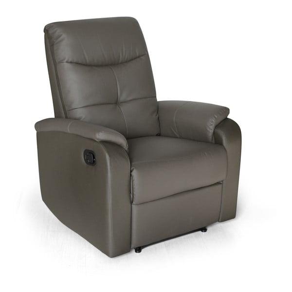 Fotel/leżanka Etos, szara skóra ekologiczna