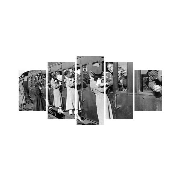 Wieloczęściowy obraz Black&White no. 2, 100x50 cm