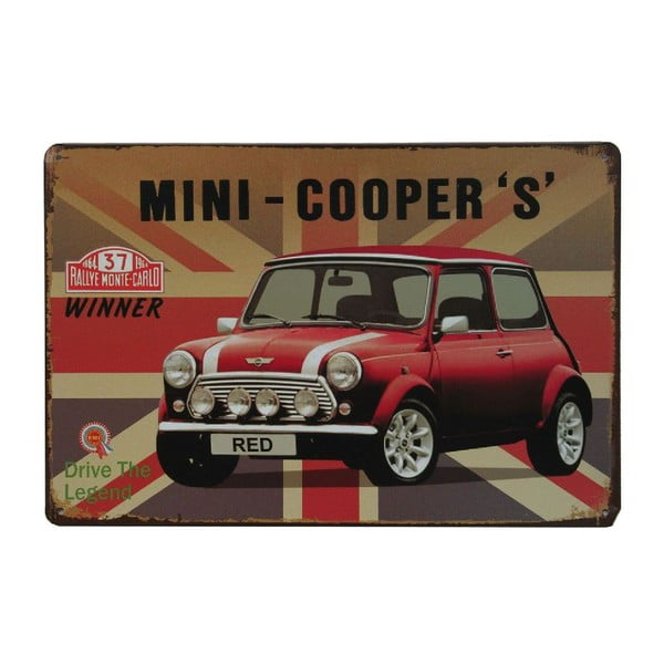 Tablica Mini Cooper, 20x30 cm