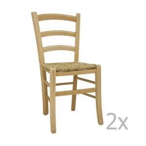 Zestaw 2 krzeseł Castagnetti Lavagna, naturalne
