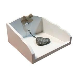 Biały pudełko na serwetki Bolzonella z przyciskiem do papieru