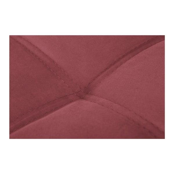 Czarno-różowy narożnik lewostronny Crinoline