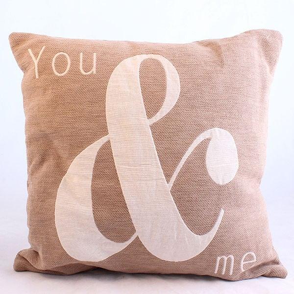Dekoracyjna poszewka na poduszkę You & Me, 40x40 cm