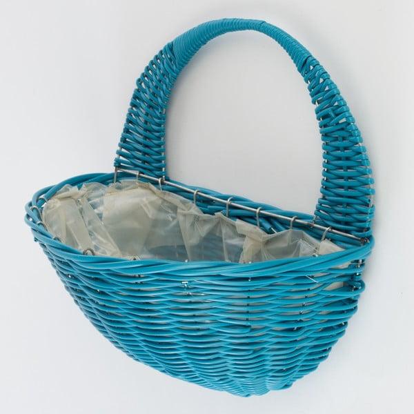 Naścienna doniczka rattanowa Baskie Blue