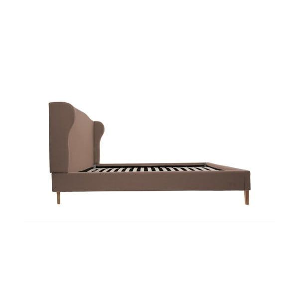 Brązowe łóżko z naturalnymi nóżkami Vivonita Windsor, 140x200 cm