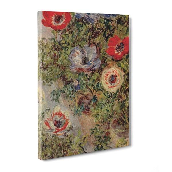 Obraz Monet Flowers - Claude Monet, 50x70 cm