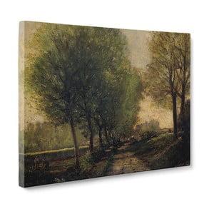 Obraz Lane Near a Small Town - Alfred Sisley, 50x70 cm