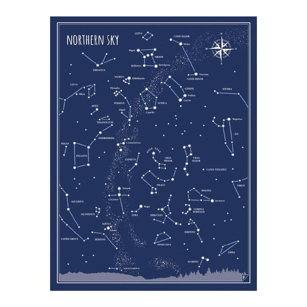 Zestaw 2 plakatów Follygraph Little & Big Astronomer Blue, 30x40 cm