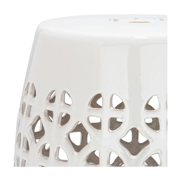 Jasnokremowy solik ceramiczny Safavieh Ravello