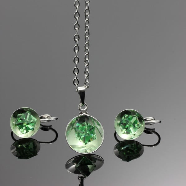 Komplet Swarovski Elements Bijouterie Green
