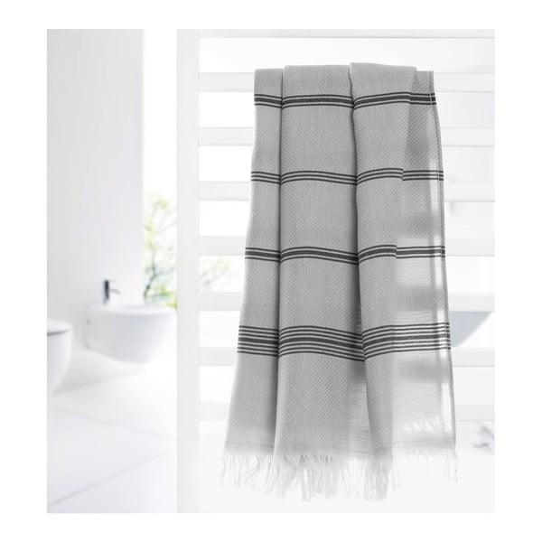 Ręcznik hammam Loincloth Line Grey, 80x170 cm