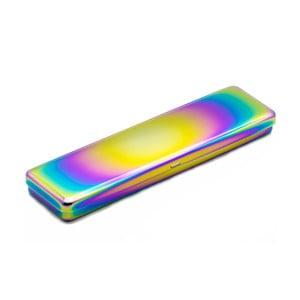 Pojemnik z kolorowym efektem połysku i przykrywką Lund London Luxe Narrow