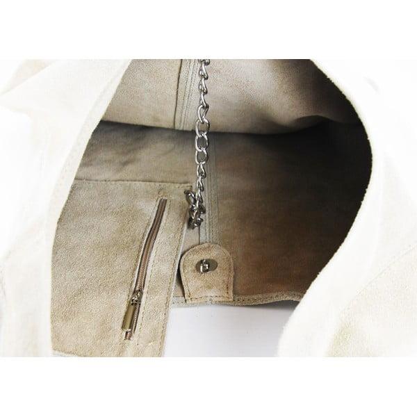 Skórzana torebka Blurisa Taupe