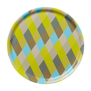 Taca drewniana Tray Yellow Square