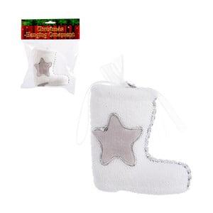 Biały but dekoracyjny na prezenty Unimasa