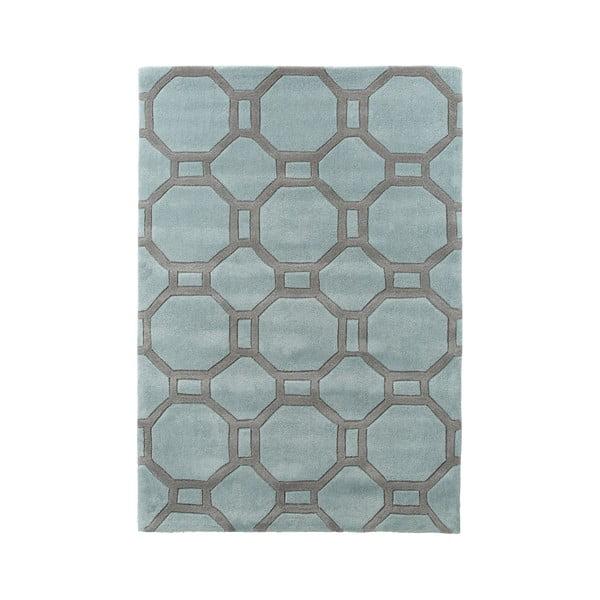 Dywan Tile 90x150 cm, niebiesko-szary