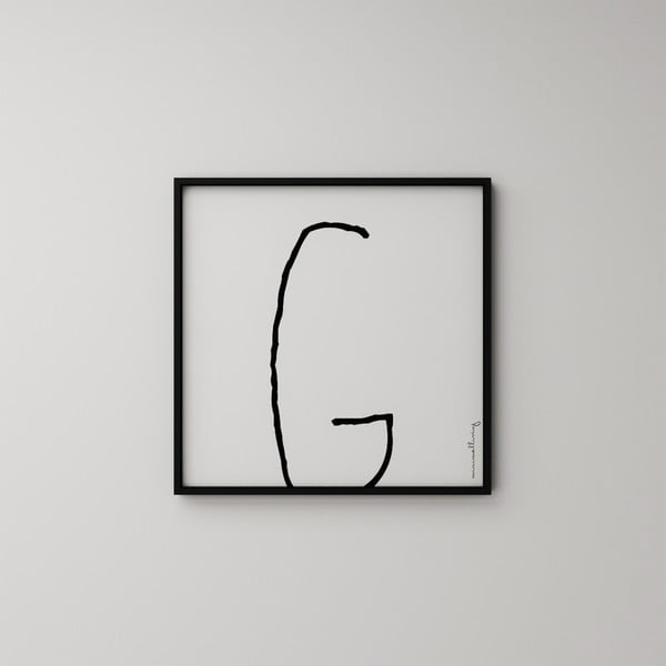 Plakat Litera G, 50x50 cm