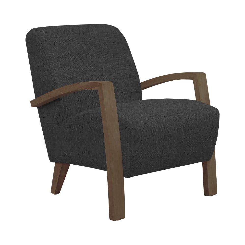 Ciemnoszary fotel z ciemnymi nogami Windsor & Co Sofas Luna