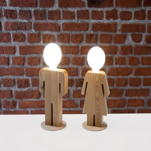 Drewniana lampa stołowa Homemania Anastasia