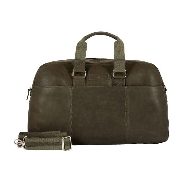 Męska torba podróżna Vintage Overnight Green Army