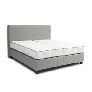 Jasnoszare łóżko kontynentalne Revor Roma, 140x200cm