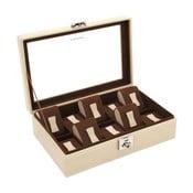 Beżowe pudełko skórzane na 10 zegarków Friedrich Lederwaren Cordoba