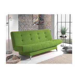 Zielona sofa rozkładana Sinkro Zero