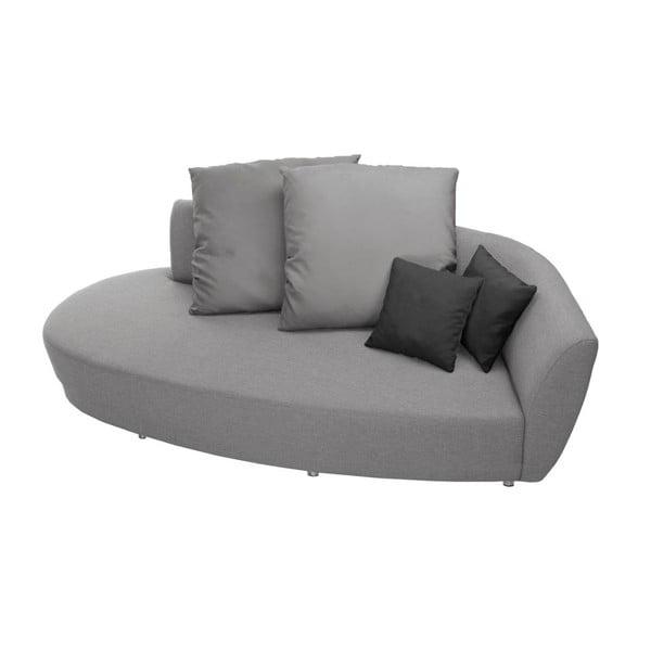Sofa trzyosobowa z oparciem po prawej stronie Florenzzi Viotti Light Grey/Anthracite