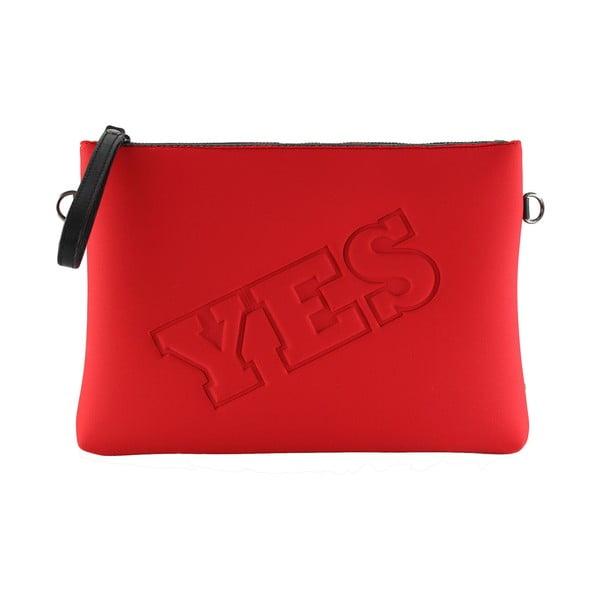 Neoprenowa kopertówka Yes/No, czerwona
