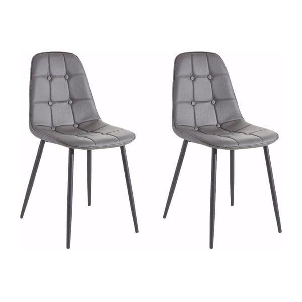 Zestaw 2 szarych krzeseł Støraa Lamar