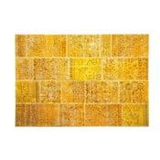 Dywan wełniany Allmode Yellow, 180x120 cm