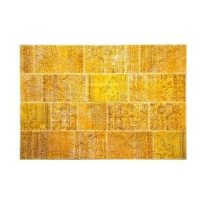 Dywan wełniany Allmode Yellow, 150x80 cm