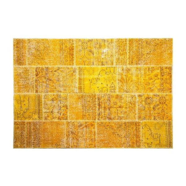 Dywan wełniany Allmode Yellow, 200x140 cm