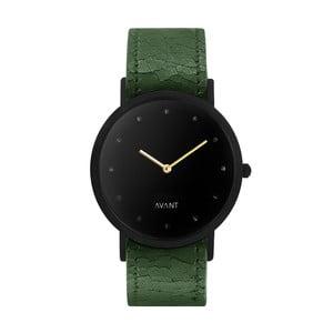 Czarny zegarek unisex z zielonym paskiem South Lane Stockholm Avant Pure