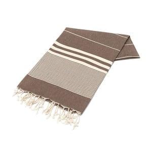 Ręcznik hammam American Stripes Chocolate, 100x180 cm