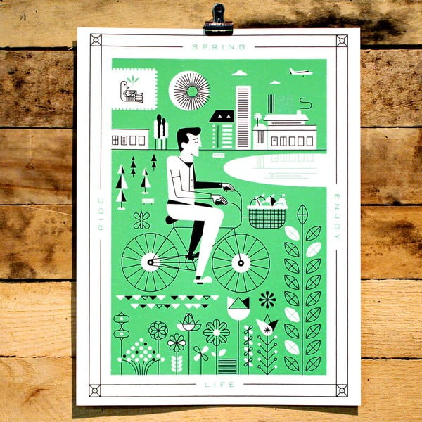 Plakat Spring, 41x30 cm