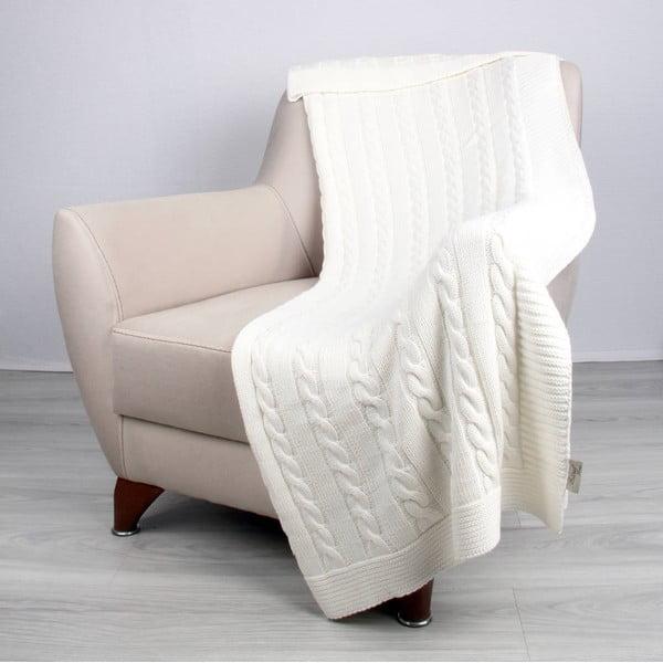 Jasnobeżowy koc bawełniany Carla