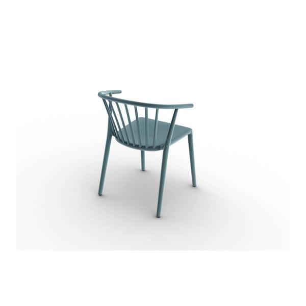 Zestaw 2 niebieskich krzeseł ogrodowych Resol Woody